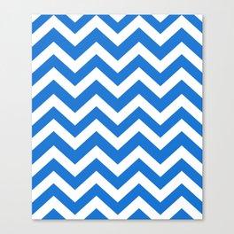 Navy blue (Crayola) - turquoise color - Zigzag Chevron Pattern Canvas Print