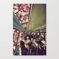 subway Canvas Prints featuring subway by Caroline A