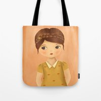 cancer Tote Bags featuring Cancer by The Midnight Rabbit