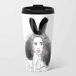 Fashionable easter bunny girl Travel Mug