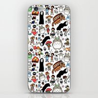 theater iPhone & iPod Skins featuring Kawaii Ghibli Doodle by KiraKiraDoodles