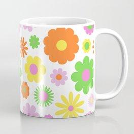Vintage Daisy Crazy Floral Coffee Mug