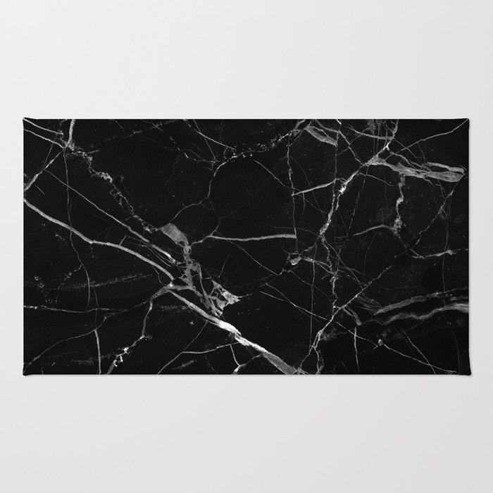 Black marble Rug