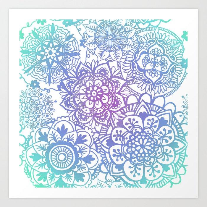 Pastel Mandala Pattern Art Print