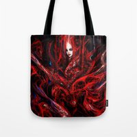witchcraft Tote Bags featuring Witchcraft by Gyossaith
