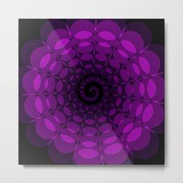 complex purple spiral Metal Print