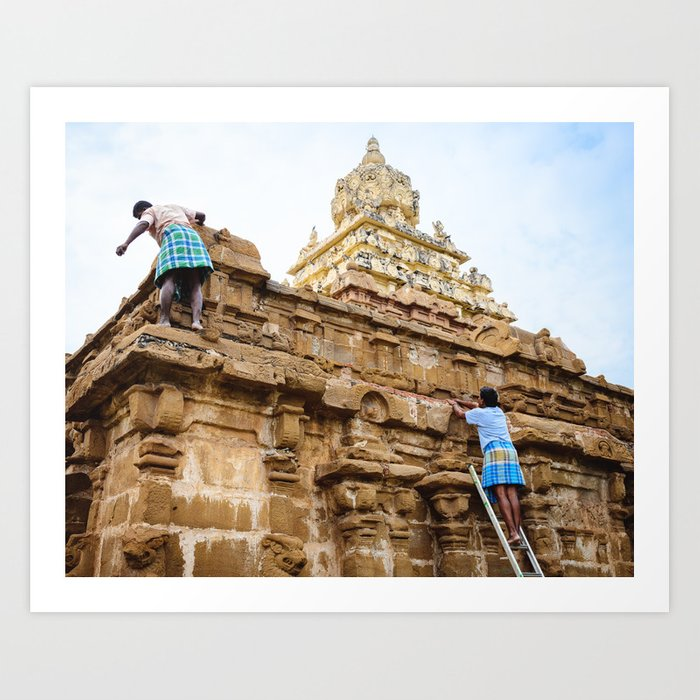 Temple Cleaning Art Print