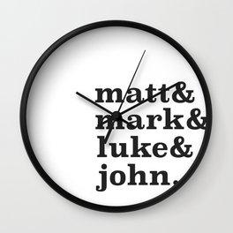 Matt&Mark&Luke&John. Wall Clock