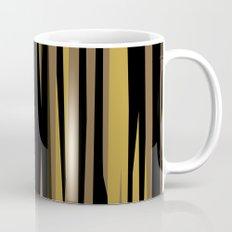Yellow tan and black abstract Mug
