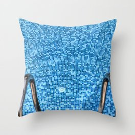 Summer Swimming Pool Throw Pillow