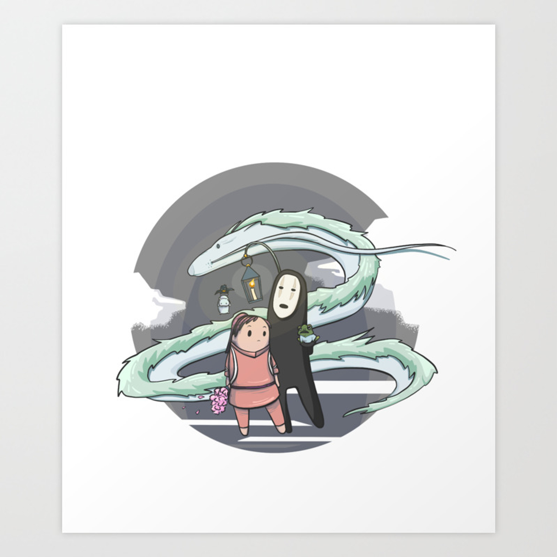 Chihiro Spirited Away Art Print By Confettiguillemetti Society6