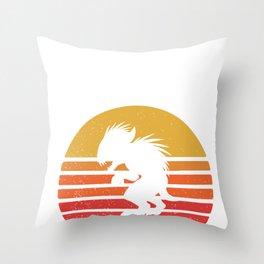 El Chupacabra  Throw Pillow