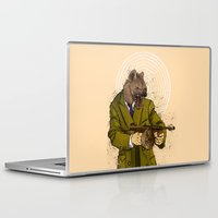 gangster Laptop & iPad Skins featuring Gangster Hyena by Ichorteeth