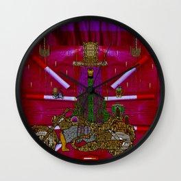 Lady Pandas Mc shopper club Wall Clock