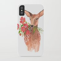 oana befort iPhone & iPod Cases featuring Lovely Deer by Oana Befort