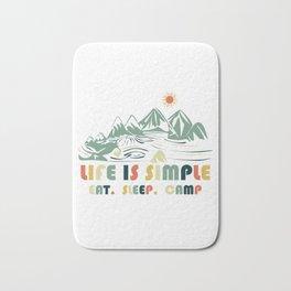 Camping. Eat. Sleep. Camp Bath Mat