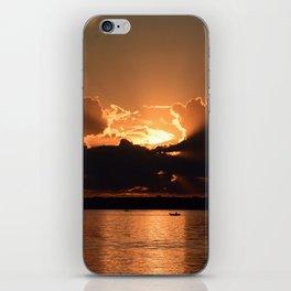 Fisherman Sunset iPhone Skin