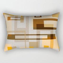Mid Century Modern Blocks on Sand Rectangular Pillow