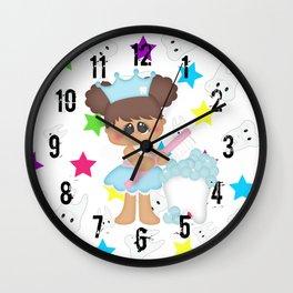 Tooth Fairy Brushing Teeth Wall Clock