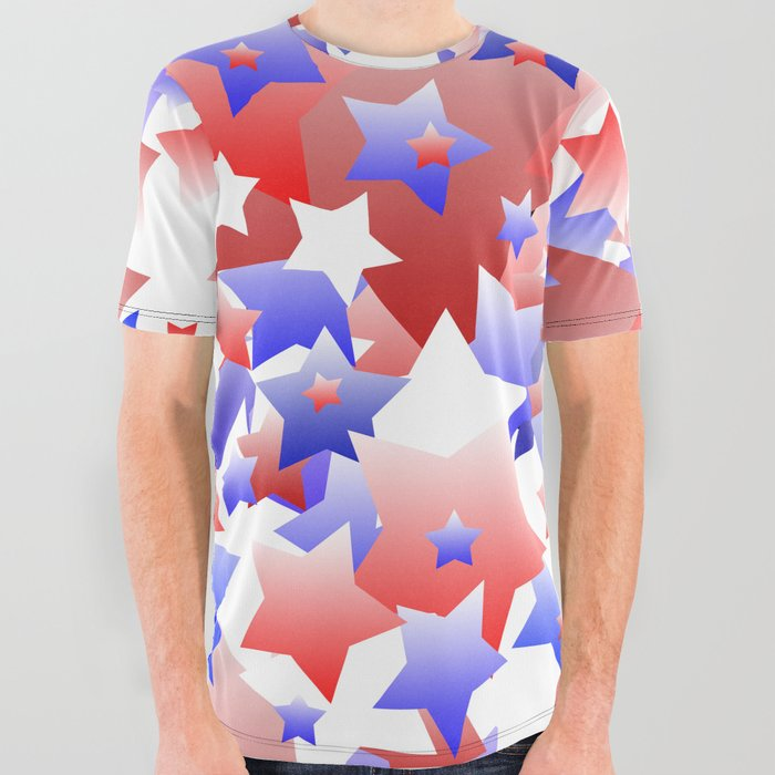 85b39e36b Patriotic Stars All Over Graphic Tee by blakcirclegirl | Society6