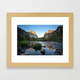 Valley View Sunset, Yosemite, California Framed Art Print