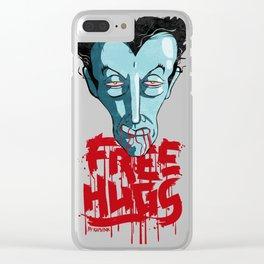 Vampiric Free Hugs Clear iPhone Case