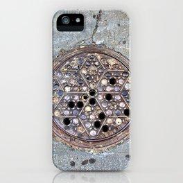 Worth Street Manhole Cover iPhone Case