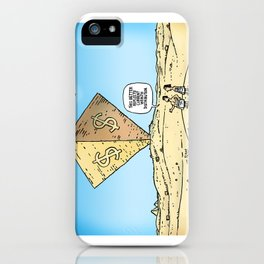 Pyramid of Wealth iPhone Case