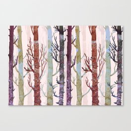 Color forest trees Canvas Print