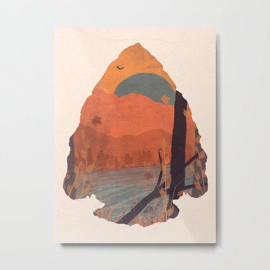 Autumn in the Gorge... - Arrowhead Metal Print