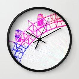 Colorful Riesenrad Wall Clock