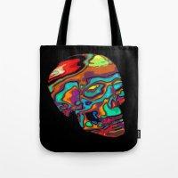 lsd Tote Bags featuring LSD Skull by johannesart