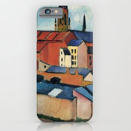 August Macke - St. Mary's with Houses and Chimney iPhone Case