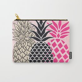 Pineapple in Pink , tropical , hawaii , summer , fruit , pineapple print , pineapple design Carry-All Pouch