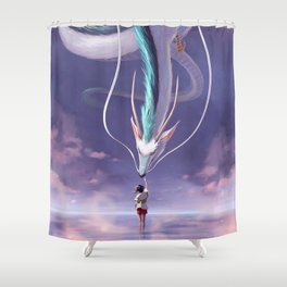 Spirited Away Fanart Shower Curtain