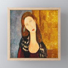 """Amedeo Modigliani """"Jeanne Hebuterne, seated"""" Framed Mini Art Print"""