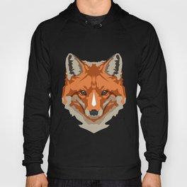 Red Geometric Fox Hoody