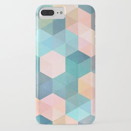 Child's Play 2 - hexagon pattern in soft blue, pink, peach & aqua iPhone Case