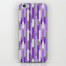 Modern Tabs in Purple and Lavender on Gray iPhone Skin