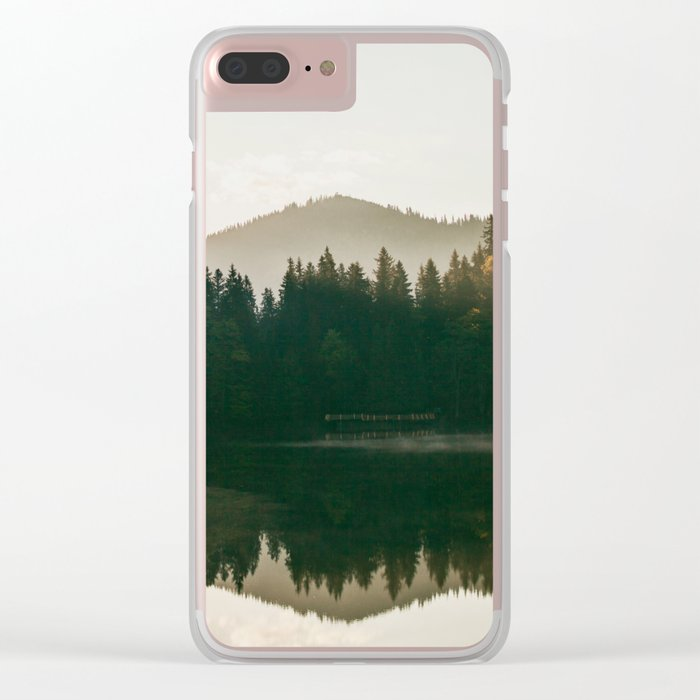 Morning lake Clear iPhone Case