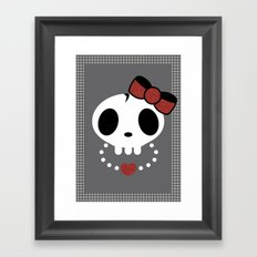 punk rawk girl Framed Art Print