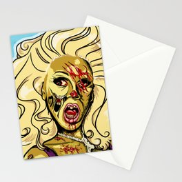Zombie RuPaul Stationery Cards