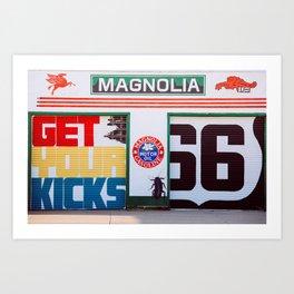 Get Your Kicks Route 66 Retro Art Art Print