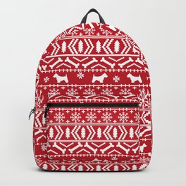 Westie fair isle west highland terrier christmas holiday gifts dog pattern Backpack
