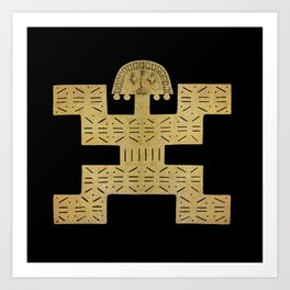 Pectoral Pre-Columbian Gold Piece Art Print