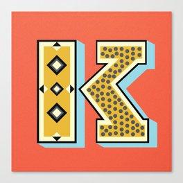 The Letter K  Canvas Print