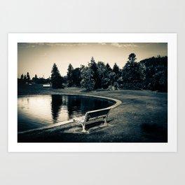 Newcastle, NSW, Australia The Lonely Pond Art Print