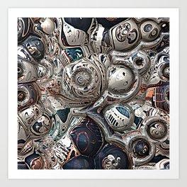 Three Dimensional Reflections Art Print