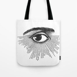 I See You. Black and White Tote Bag