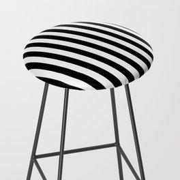 Black and white vertical stripes Bar Stool